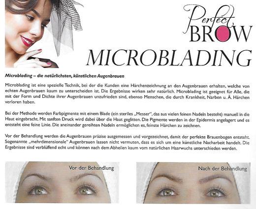 Micorblading Behandlung für perfekte Augenbrauen Magdeburg