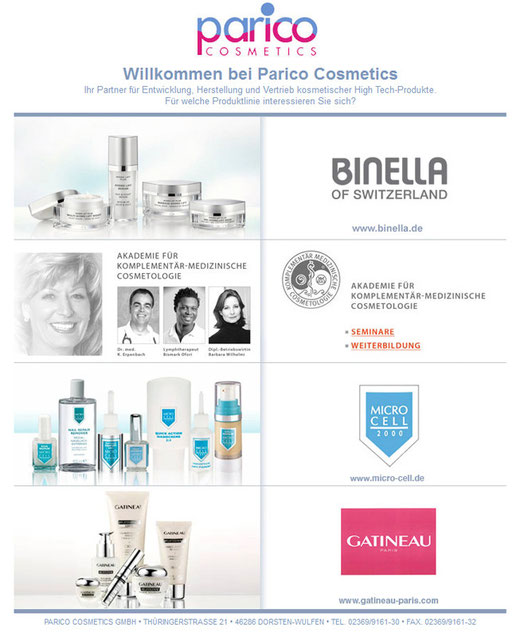parico Cosmetics Kosmetikprodukte