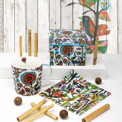 Trend Mug von PPD - große Porzellantassen - Flower Festival by Este Macleod