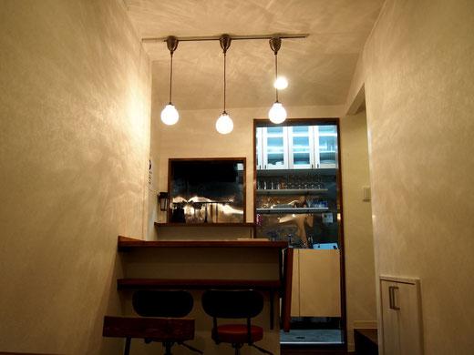 1階カウンターとキッチン