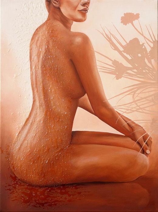 Zen O Nue - Peinture Huile sur toile 80x60 - Jean-Pierre Beillard