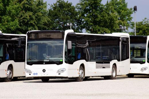 Un des futurs Citaro C2 urbains du réseau, en attente de livraison. ©popol