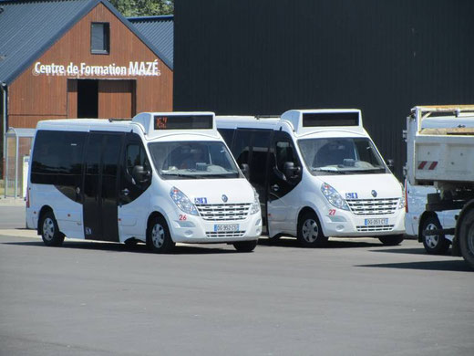 Légende : La diversification du parc de l'agglomération se poursuit, avec l'acquisition de trois minibus prochainement suivis par deux minibus. ©0530C2