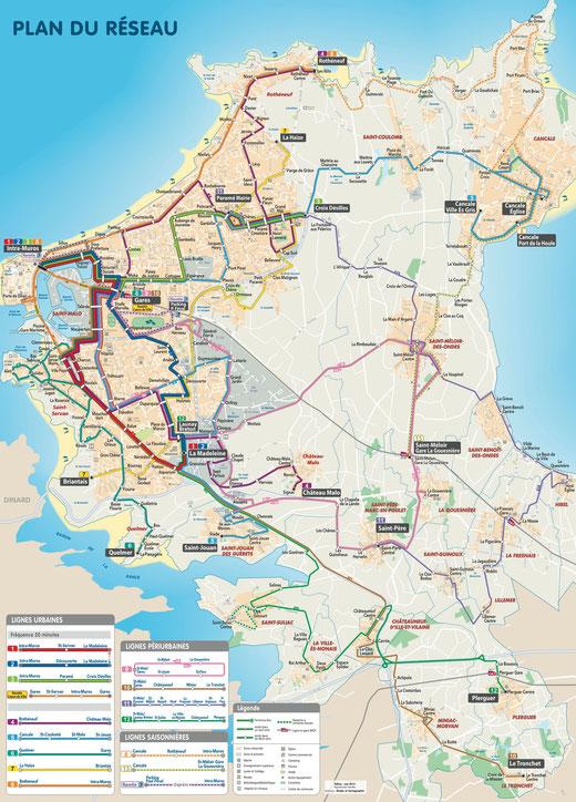 Le plan du nouveau réseau (cliquez pour agrandir). ©Keolis, reproduction et utilisation commerciale interdites.