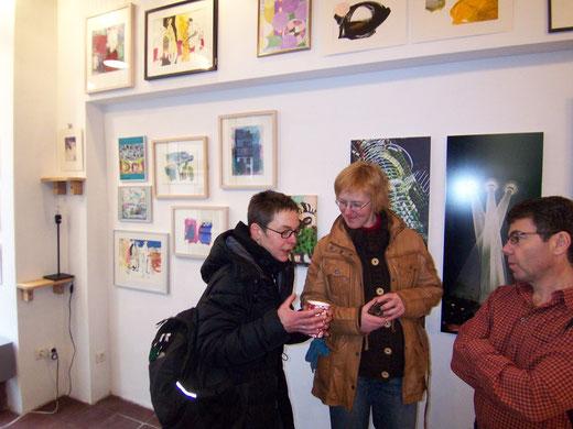 Sylvia Klein und Gudrun Lüpke in der Galerie SEHR, Koblenz 2013