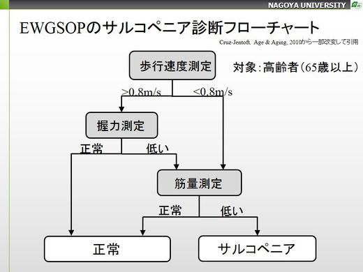 EWGSOPのサルコペニア診断フローチャート