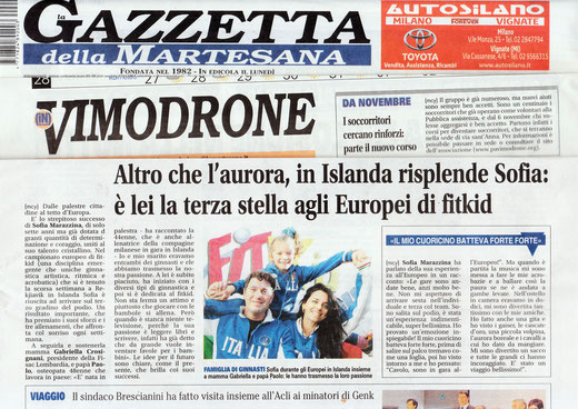 fitkid italia torna dagli europei di fitkid con un medagliere ricchissimo