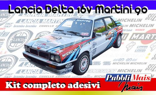 price cost kit complete stickers decals sponsor lancia delta integrale 16v 1990 90 martini online shop pubblimais