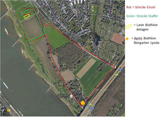 Laser Biathlon Strecke Köln