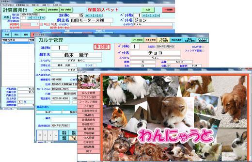 動物病院システム、獣医、システム、電子カルテ、カルテ管理、わんにゃうと、画像2