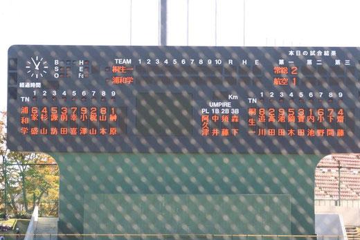 2015 高校野球 秋季関東大会<準々決勝>桐生第一vs浦和学院@県営大宮球場