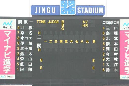 2014 高校野球 東京都秋季大会準決勝 二松学舎大附属vs関東一高