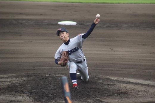 横浜高校 板川佳矢vs桐光学園@保土ヶ谷球場