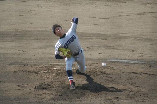 【横浜高校 石川達也】秋季大会3回戦vs湘南工科大学附属