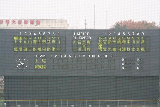 北関東選抜vs上尾高校@市営大宮球場