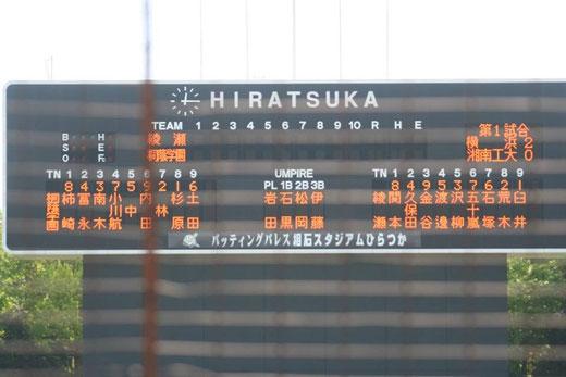 2015 神奈川県秋季大会3回戦 綾瀬高校vs桐蔭学園@平塚球場