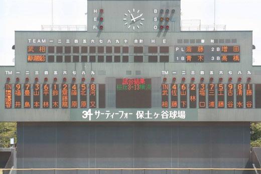 2015 神奈川県春季大会2回戦 武相高校vs横浜清陵総合