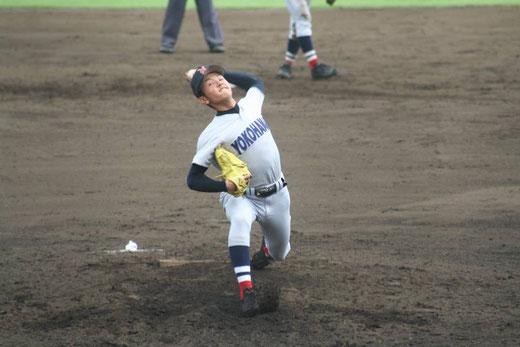 【横浜高校 石川達也】秋季大会4回戦vs桐蔭学園