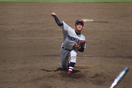【横浜高校 塩原陸】秋季大会 3回戦vs法政二高