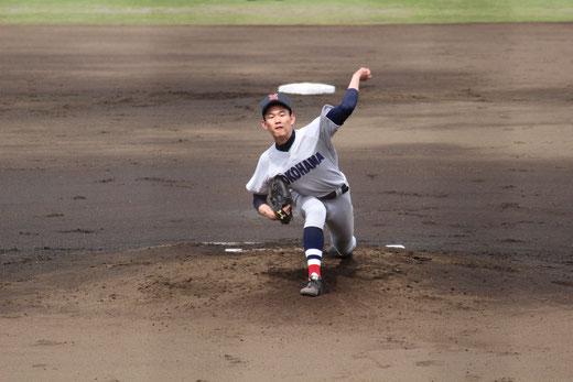 横浜高校 及川雅貴 デビュー戦 vs東海大相模