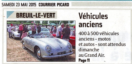 23 mai 2015 - Courrier Picard - Breuil le Vert - Véhicules anciens.