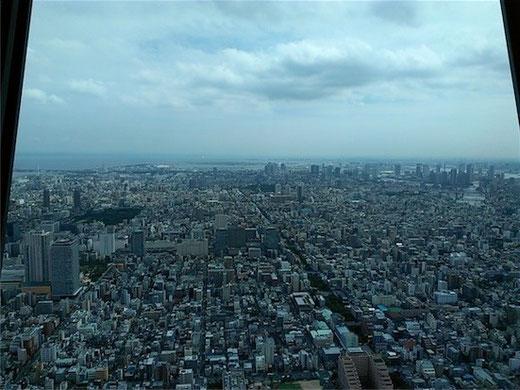 東京スカイツリー 展望デッキからの景色