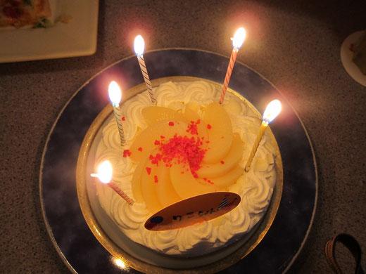 シダックスのバースデーケーキ