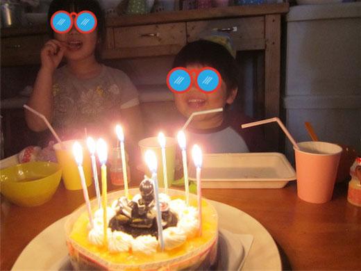 キッズパーティー 仮面ライダーウィザードのケーキ