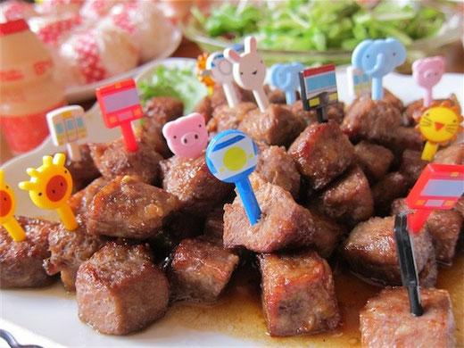 キッズパーティー サイコロステーキ