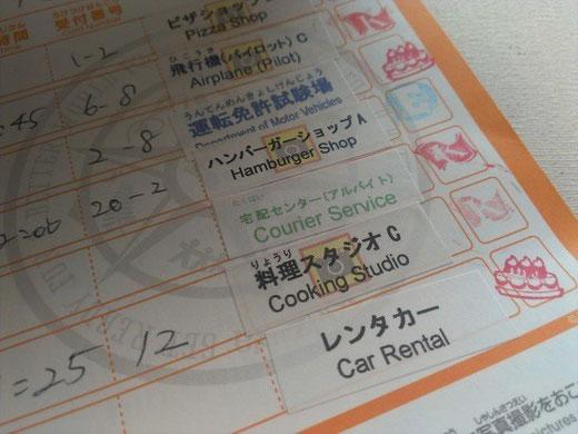 JOBスケジュールカード