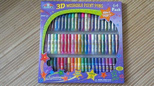 3D washable paint pens