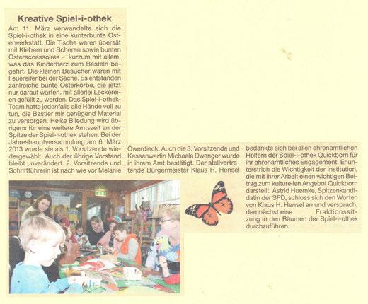 blickpunkt quickborn März 2013 - Osterbasteln in der Spiel-i-othek