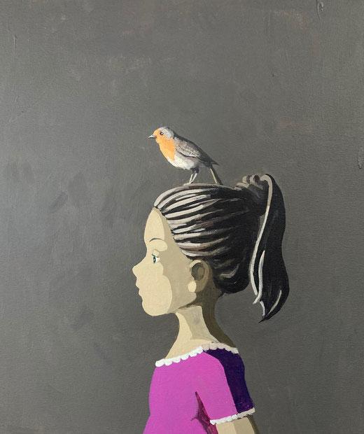 friends - Acryl auf Leinwand, 60x50cm, 2021 | verkauft