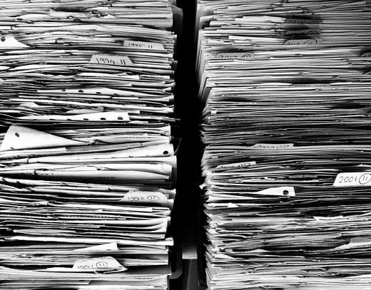 Montagne de papiers