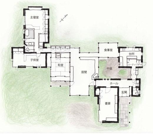 中山邸平面図
