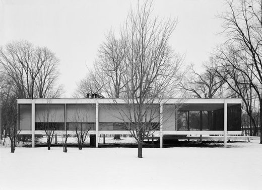 ファンスワース邸 設計:ミース・ファン・デル・ローエ(1950)