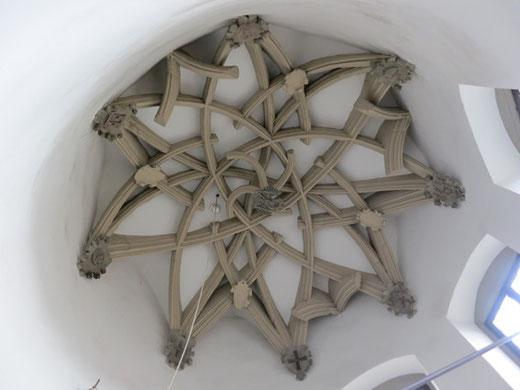 ローテンベルクの階段部屋の天井