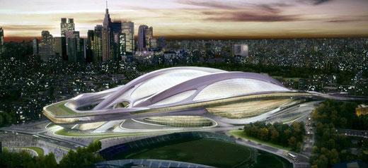 国立競技場コンペ入選案 設計:ザッハ・ハディド(2012)