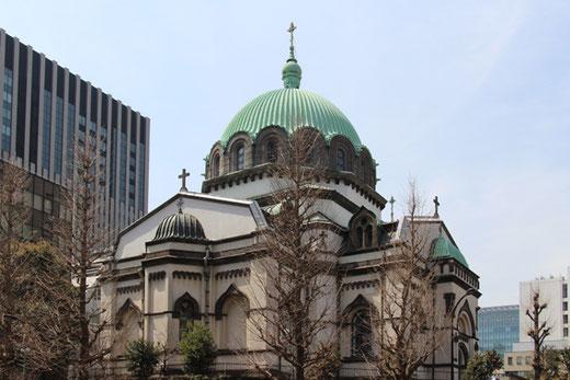 ニコライ堂(東京復活大聖堂) 設計:ジョサイア・コンドル、改修:岡田信一郎