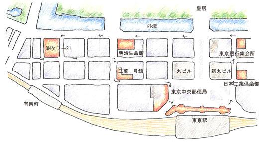 丸の内保存建築案内図