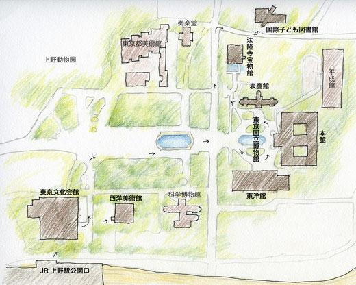 上野公園案内図