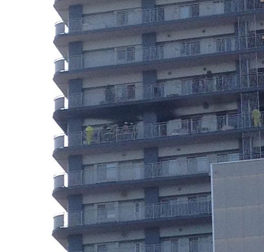 フォーラスタワー所沢の火災 2016年2月