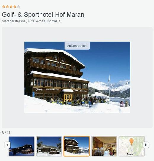 hotel im skigebiet arosa