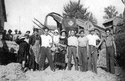 L'équipe de battage en 1940 - vous reconnaissez-vous ?