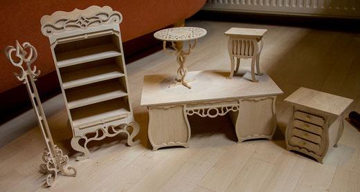 Die Frästeile fangen langsam an, wie Möbel auszusehen. - Ist Alles identifizierbar? :D