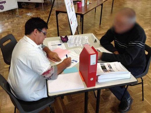 Inclusion du premier volontaire lors de la collecte de Sang de l'EFS le 19 Fevrier 2014 à Mesanger (44)