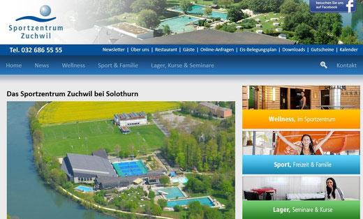 Sportzentrum Mittelland an der Aare:  Eishockey + Fussball Trainingslager Schulreisen (jk)
