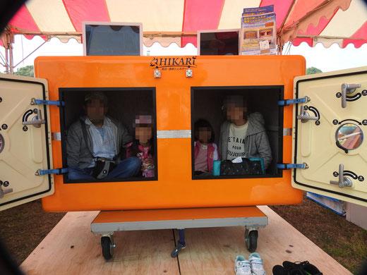 津波シェルターを御前崎で展示体験10