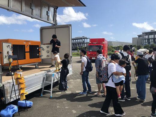防災モーターショーに津波シェルターCL-HIKARIが出展05