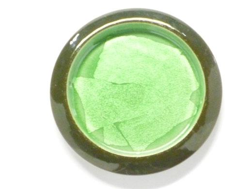 九谷焼 引き手 銀彩緑